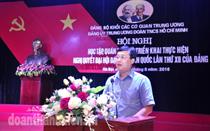 Đảng ủy Trung ương Đoàn: Hội nghị học tập, quán triệt, triển khai Nghị quyết Đại hội XII của Đảng (đợt 3) cho đảng viên khu vực phía Bắc