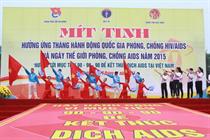 """Mít tinh hưởng ứng """"Tháng hành động quốc gia phòng, chống HIV/AIDS năm 2015"""