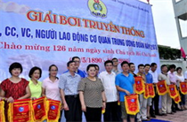 Học viện TTN Việt Nam giành giải nhất toàn đoàn Giải bơi truyền thống lần thứ 18