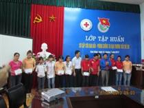 Trung tâm hoạt động TTN tỉnh Thái Bình: Tập sơ cấp cứu ban đầu và phòng tránh tai nạn thương tích trẻ em năm 2013.