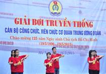 Công đoàn CQ Trung ương Đoàn: Hơn 80 vận động viên tham dự Giải bơi truyền thống năm 2015