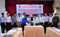 Ký kết chương trình phối hợp giữa Hội CCB với Đoàn khối cơ quan Trung ương Đoàn (2014 – 2017)