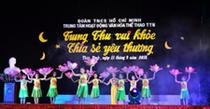 Trung tâm HĐ VHTT TTN tỉnh Thái Bình:  Đêm hội Trung thu vui khỏe chia sẻ yêu thương.