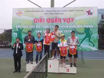 Trung tâm HĐ TTN Thừa Thiên - Huế: Giải quần vợt các CLB tỉnh mở rộng năm 2014