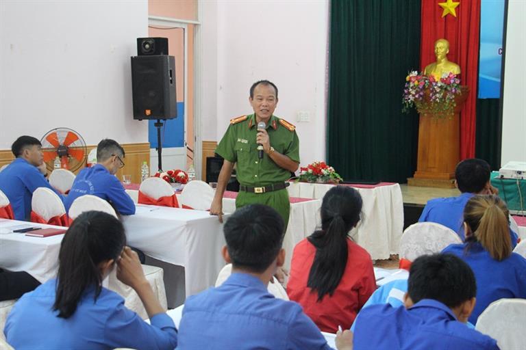 Tập huấn về công tác phòng, chống tệ nạn xã hội cho cán bộ đoàn các tỉnh khu vực Tây nguyên năm 2019