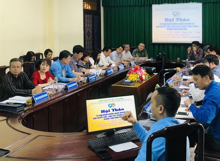 Hội thảo Tư vấn định hướng nghề nghiệp và giải quyết việc làm cho thanh  niên trong tình hình mới