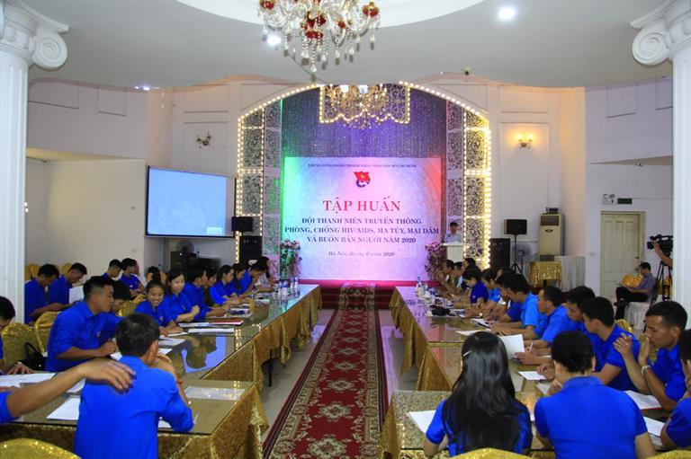 Tập huấn Đội Thanh niên tuyên truyền phòng, chống ma túy, tệ nạn xã hội và buôn bán người