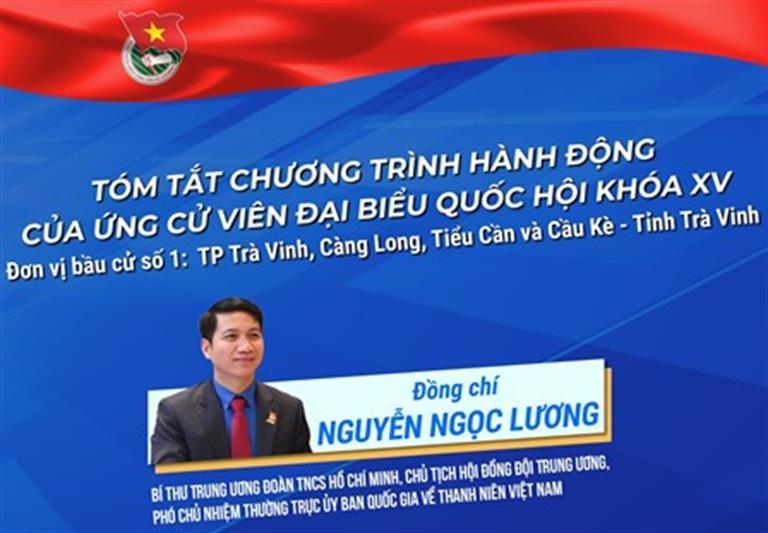 Bí thư Trung ương Đoàn Nguyễn Ngọc Lương ứng cử Đại biểu Quốc hội khóa XV
