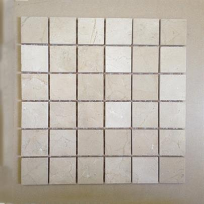 CREMA MARFIL SQUARE MOSAIC MARBLE TILE
