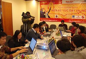 """Phối hợp thực hiện buổi giao lưu trực tuyến """"Hiến kế vực dậy VN-Index"""""""