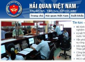 Trang chủ mới của Website Tổng cục Hải Quan