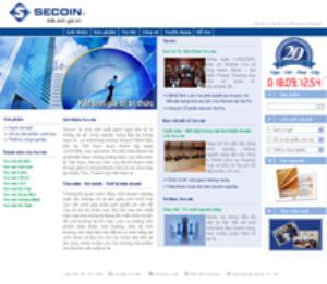 Trang chủ mới của Website Secoin