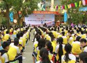 """Sôi động """"Ngày hội tiến bước lên Đoàn""""  tại Trường THCS Kim Giang"""